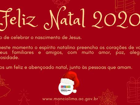 Prefeitura de Mâncio Lima deseja um Feliz Natal 2020