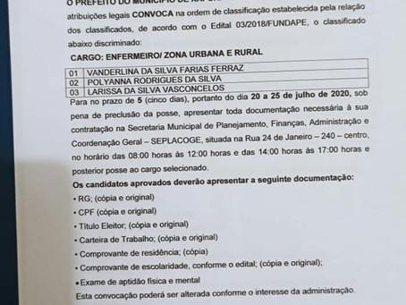 Prefeitura de Xapuri convoca aprovados em concurso público efetivo de 2018