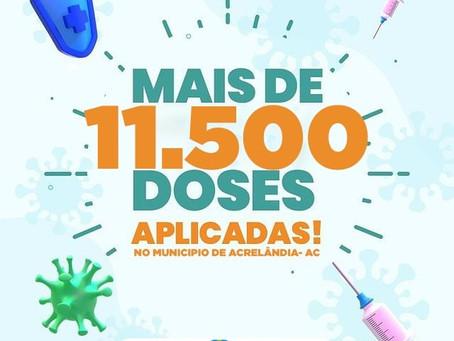 Acrelândia alcançou 11.500 doses de vacinas aplicadas contra a covid-19