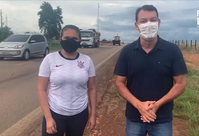 Vereadora Sara Frank vistoria serviços de manutenção na BR-317 feitos pelo DNIT