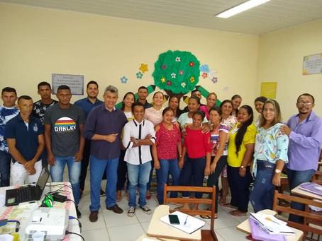 Prefeito Bira Vasconcelos participa de capacitação aos professores do ano letivo 2020