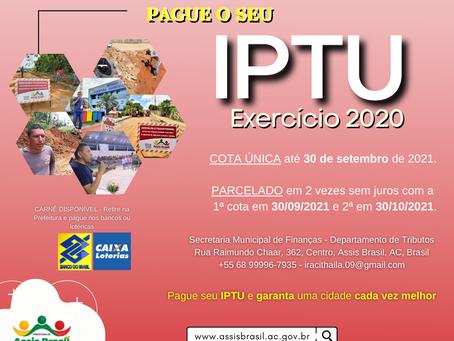 IPTU: Pague o seu IPTU 2020 sem juros e multa até 30 de setembro de 2021