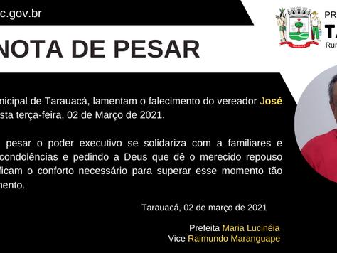 Nota de Pesar: José Sidenir