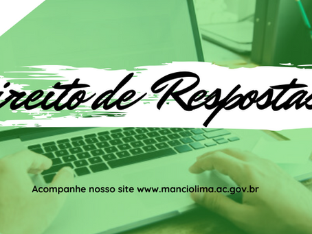 Direito de resposta a reportagem infundada e tendenciosa do site de notícias Três de Julho