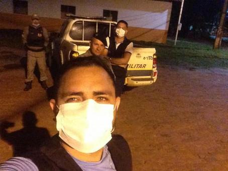 Setor de Cadastro e Tributos participa de ronda da PM no primeiro dia de lockdown no município