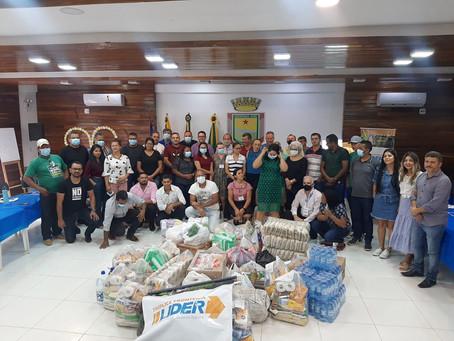 Em Assis Brasil, projeto LIDER do Sebrae realiza doação à Cáritas Diocesana