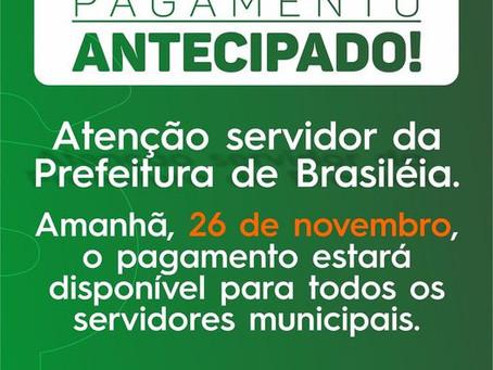 Prefeitura de Brasiléia realizará pagamento antecipado dos servidores municipais