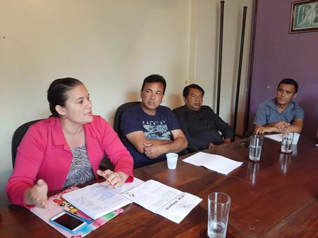 Janaína reúne secretário Claver Freire e presidente do Sintar para dialogar pautas da saúde