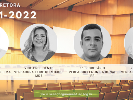 Nova mesa diretora da Câmara para o biênio 2021-2022 é empossada