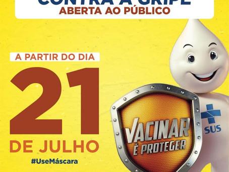 Prefeitura de Brasileia realiza abertura ao público da campanha de vacinação Contra a Gripe