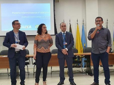 Isaac Pyãko participa de reunião entre AMAC e Caixa sobre a simplificação dos Contratos de Repasse