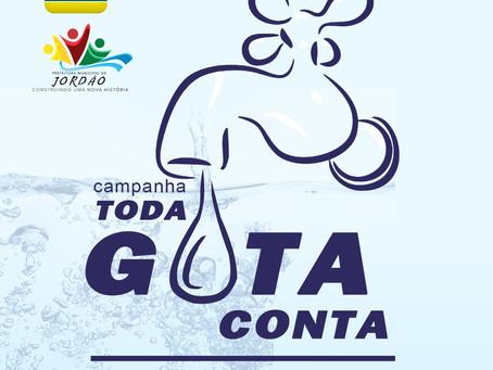 Prefeitura realiza campanha Toda Gota Conta