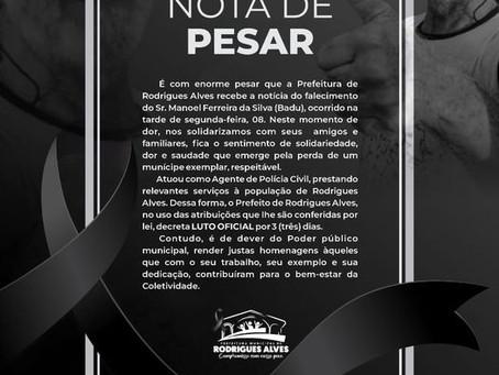 Nota de Pesar: Manoel Ferreira da Silva