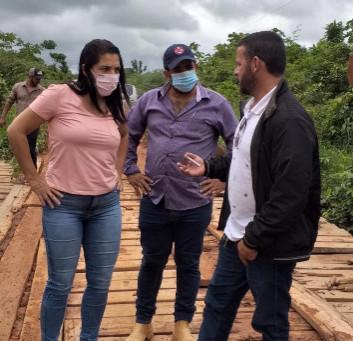 Vereadores vistoriam ramais e buscam soluções para as famílias do campo