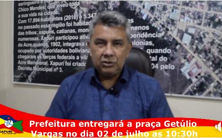 Cultura: Praça Getúlio Vargas reinaugurada e banda de música Júlia Gonçalves Passarinho reativada