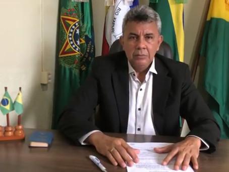 Chefe do Executivo Municipal fala sobre a pandemia do covid-19 (coronavírus)