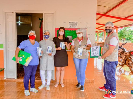 Prefeitura realiza distribuição de kits de higiene bucal a população portoacrense