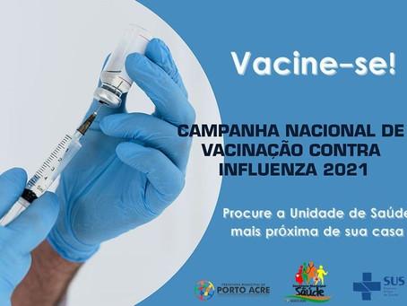 Saúde: Vacine-se contra a influenza na unidade mais perto de você