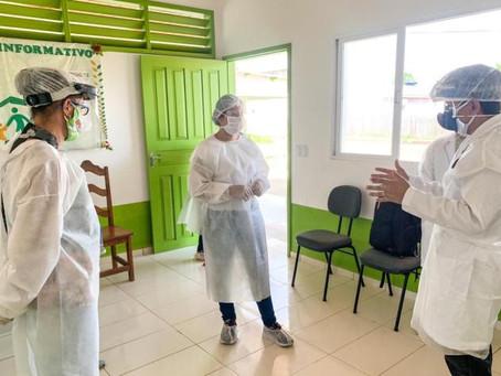 Prefeitura de Jordão recebe o médico Jenilson Leite que realiza atendimento aos pacientes com covid