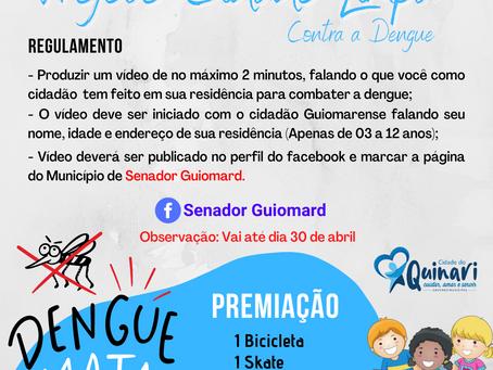 Projeto Cidade Limpa contra a dengue foi prorrogado até 30 de abril, participe!