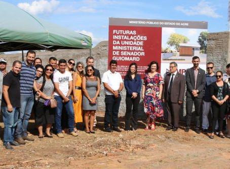Presidente prestigia ato de anúncio de futuras instalações do Ministério Público de Senador Guiomard