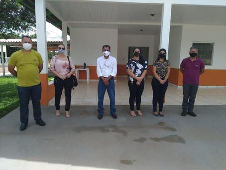 Prefeito e autoridades visitam prédio que sediará o Judiciário e o Samu em Porto Acre