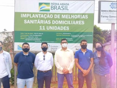 Prefeito Manoel Maia realiza entrega de unidades sanitárias domiciliares