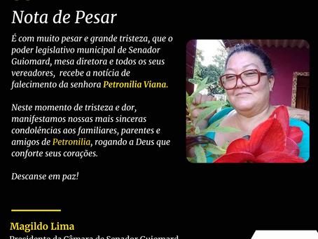 Nota de Pesar: Petronilia Viana