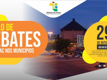 Vereadores e servidores do legislativo participam do I Ciclo de Debates do TCE/AC em Cruzeiro do Sul