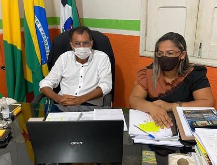 Autoridades de Porto Acre debatem situação da pandemia da covid-19 com membros do MPAC