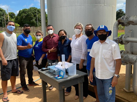 Vereadores visitam sistema de abastecimento de d'água do município