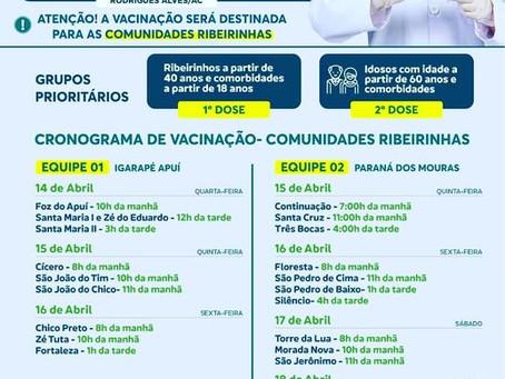 Campanha de vacinação contra a covid-19 em Rodrigues Alves