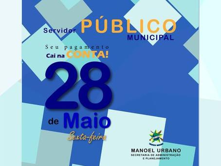 Prefeitura divulga data de pagamento dos servidores municipais referente a MAIO de 2021