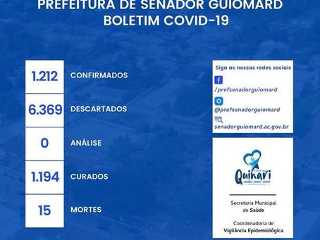 Boletim Covid-19 atualizado, 07 de Janeiro de 2021