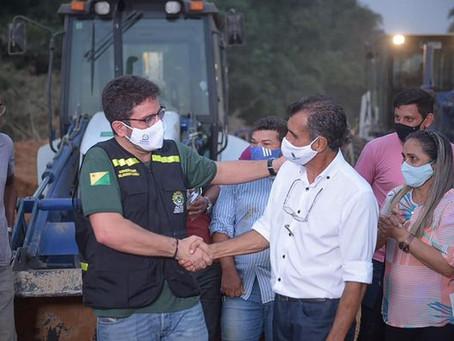 Prefeito e Governador visitam Ramal Zé Cambito beneficiado pela Operação Apoio