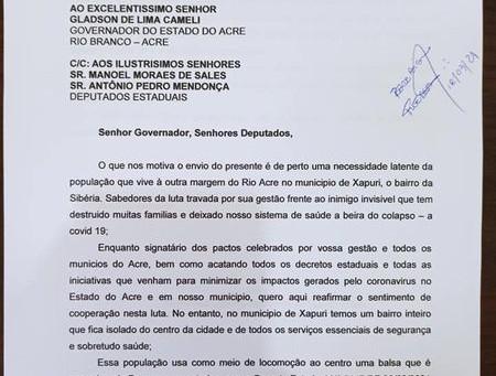 Prefeitura solicita do Estado a não interrupção da balsa em Xapuri nos finais de semana e lockdown