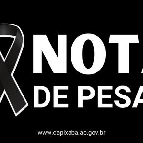 Nota de Pesar: Antônio Melo Feitosa da Silva