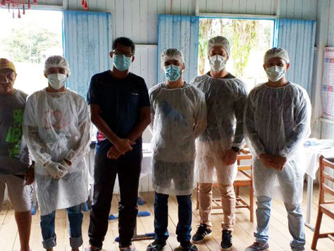 Secretário de Saúde Aderlândio França acompanha ação de saúde no Ramal do Cachoeira