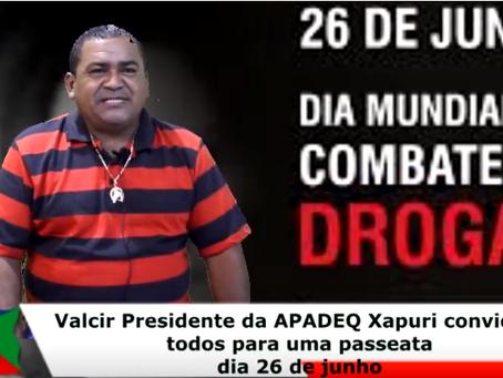 Prefeitura de Xapuri e APADEQ convidam a população para uma passeata contra as drogas