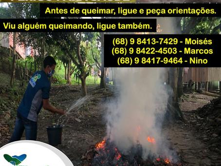 Prefeitura através da SEMATUR realiza campanha de conscientização sobre queimadas urbanas