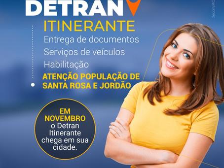 Em novembro, Detran Itinerante chegará em Jordão