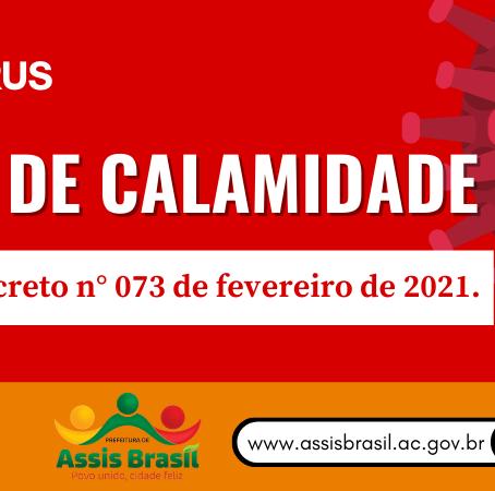 Prefeito Jerry Correia declara estado de Calamidade Pública em Assis Brasil