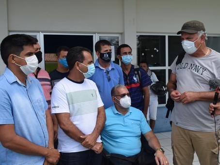 Prefeito Jailson Amorim recebe a visita do Senador Sérgio Petecão em Rodrigues Alves