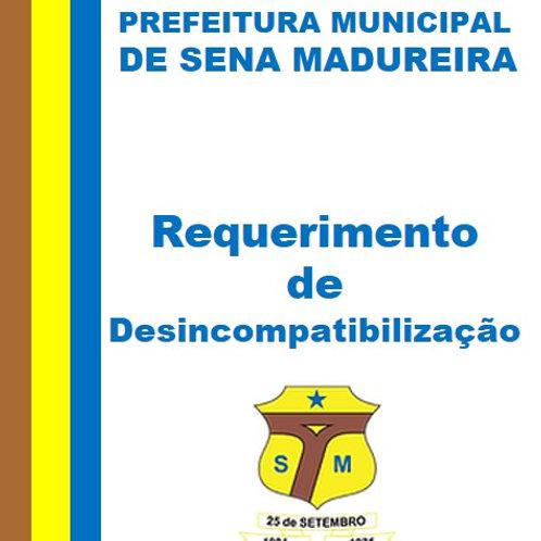 Requerimento de Desincompatibilização para concorrer as eleição municipais