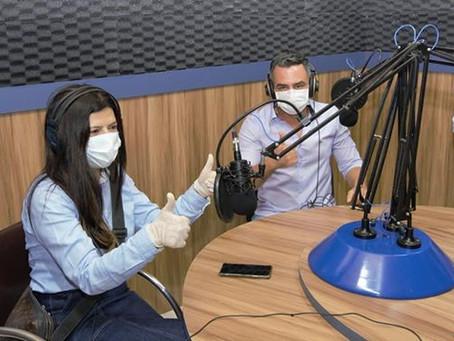 André Maia recebe a ex-deputada Antônia Lúcia, e anuncia nova emissora da rede boas novas no quinari
