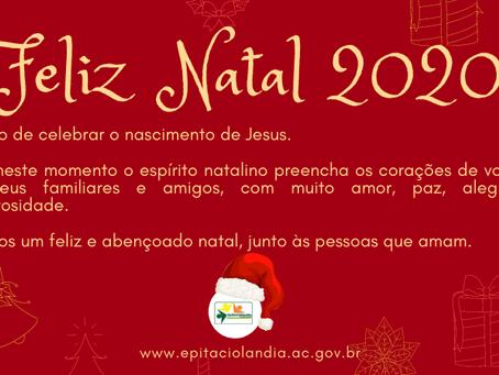 Prefeitura de Epitaciolândia deseja um Feliz Natal 2020