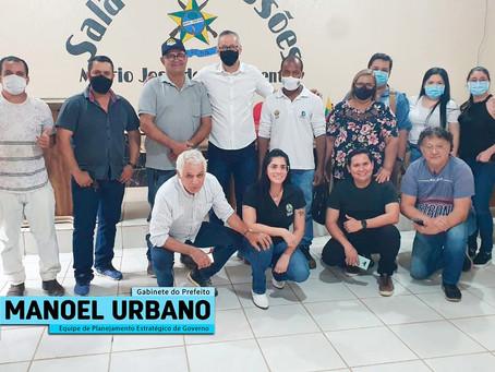 Equipe de Planejamento Estratégico do Governo, cumpre agenda em Manoel Urbano