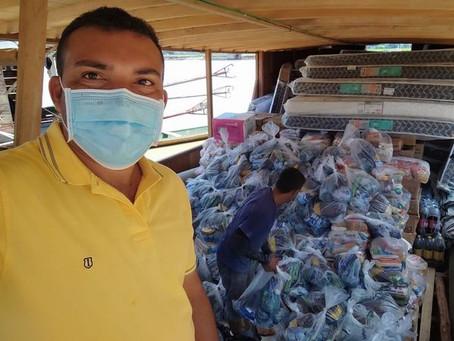 Prefeitura busca donativos para o povo atingido pela enchente do rio