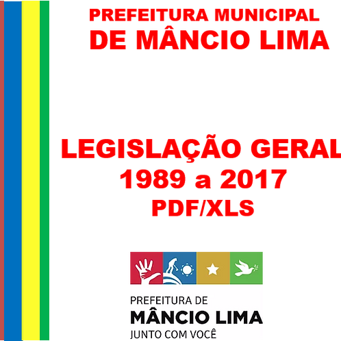 LEGISLAÇÃO GERAL (1989a 2017) - e-Legis