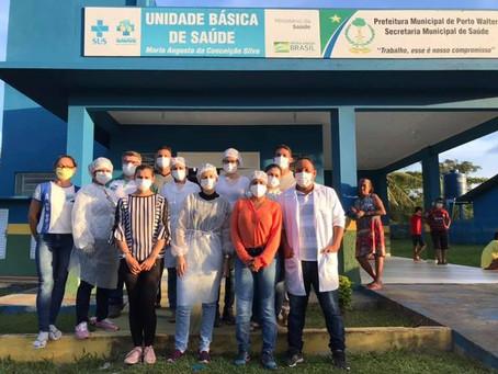 Moradores do Alto Juruá recebem atendimento com itinerante de saúde